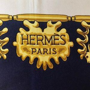 "Hermès square silk scarf 34.5""x34.5"""